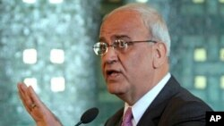 Saeb Erekat, chief negotiator for the Palestinian Authority, says his side had already agreed on minor border land swaps.