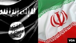 ISIS & Iran Flags