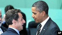 بحث اوباما وسرکوزی روی اقتصاد جهانی ونقاط داغ جهان