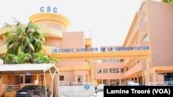 Le Conseil supérieur de la communication, Ouagadougou, le 9 juin 2021. (VOA/Lamine Traoré)