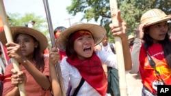緬甸學生遊行抗議
