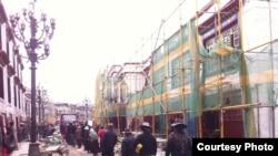 拉萨老城中心环绕大昭寺的八廓转经道(唯色博客图片)