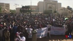 Manifestation au Niger contre la loi de finances 2018 (vidéo)
