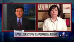 VOA连线: 日本促七国集团发声明,敦促中国尊重国际法庭裁决