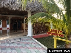 The Buccanier Beach Club hotel in Leogane, where the tourists spent the night.