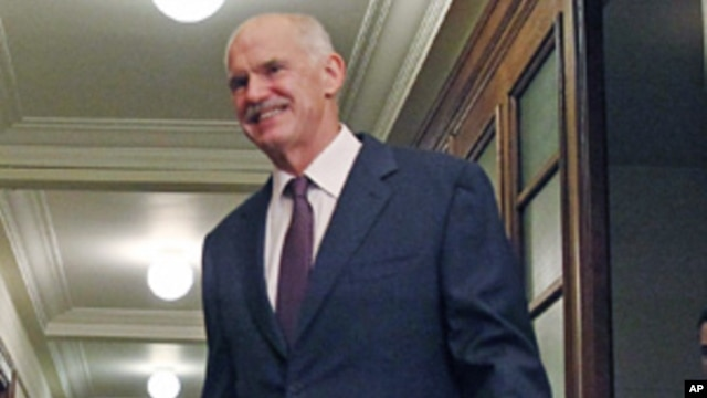 Greek Prime Minister George Papandreou, Nov 1, 2011