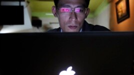 Vietnamese blogger Nguyen Lan Thang in a Hanoi cafe on Nov. 27, 2013.