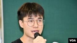 香港大學學生會署理會長黃程鋒。(美國之音 湯惠芸拍攝)