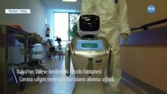 İtalya'da Bir Hastane Salgınla Mücadelede Robotlardan Yardım Alıyor