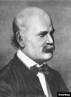 Bác sĩ Ignaz Semmelweis năm 1860, khuôn khắc bằng đồng của Jenő Doby. (Public domain)