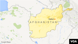 Peta wilayah Afghanistan dan letak ibukota Kabul.