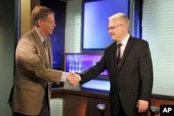 Predsjednik Josipović s direktorom Glasa Amerike Danom Austinom
