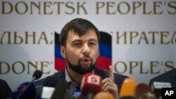 Thủ lĩnh ly khai Denis Pushilin nói dựa trên các kết quả của cuộc trưng cầu dân ý hôm qua, nước cộng hòa tự xưng là Nước Cộng hòa Nhân dân Donetsk hiện là một 'nhà nước có chủ quyền'.
