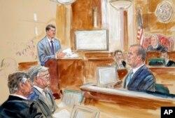 도널드 트럼프 미국 대통령 대선캠프 본부장이었던 폴 매너포트에 대한 재판이 열리고 있는 가운데, 매너포트의 측근이었던 릭 게이츠가 7일 증인으로 출석했다.