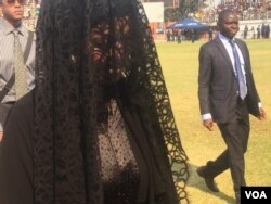 Widow Grace Mugabe at Rufaro Stadium