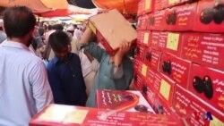 کراچی کی کھجور مارکیٹ میںخریداروںکی قطاریں