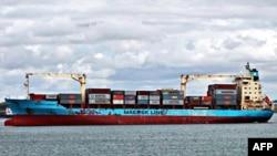 Một chiếc tàu container của công ty Maersk