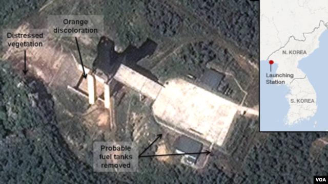 Dalam foto satelit yang diterbitkan oleh DigitalGlobe ini, tampak aktivitas Korea Utara tengah mempersiapkan peluncuran roket (Foto: dok). Rusia mendesak Korea Utara untuk membatalkan peluncuran roket yang menurut rencana akan dilaksanakan bulan ini.