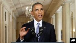 Tổng thống Obama nói 1 cuộc không kích của Mỹ sẽ làm giảm bớt năng lực của Tổng thống Assad, Washington, 10/9/2013