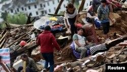 Последствия землетрясения в китайской провинции Юньнань. 4 августа 2014 г.