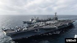 美國斯坦尼斯號航空母艦。(照片來源﹕美國海軍)