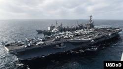 美國斯坦尼斯號航空母艦(照片來源﹕美國海軍)