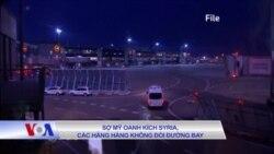 Sợ Mỹ oanh kích Syria, các hãng hàng không đổi đường bay