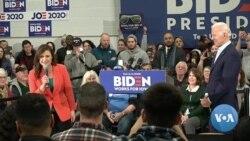 VOA英语视频: 民主党总统参选人星期二辩论 竞争白热化