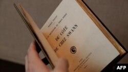 نسخه نادر رمان «طرف خانه سوآن» به قیمت بیش از نیم میلیون یورو به فروش رفت