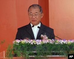 台湾监察院长王建煊在廉政署成立仪式上致词