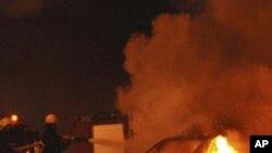 1일의 공격으로 불타는 이집트 교회