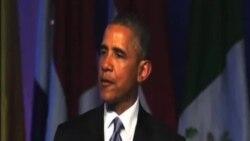 奧巴馬與勞爾.卡斯特羅美洲峰會上握手