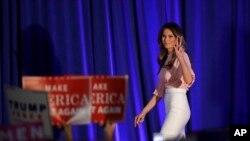 """""""Nuestra cultura se ha tornado muy cruel y muy dura, especialmente para los niños y adolescentes"""", dijo Melania Trump."""