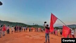 缅甸反军政府示威运动已经扩展到乡村(路透社转发2021年4月4日互联网照片)