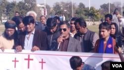 مسیحی برادری اس واقعہ کے خلاف احتجاج کر رہی ہے
