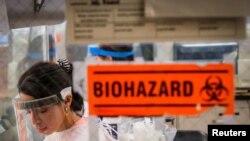23 Nisan 2020 - New York'ta COVID-19 üzerine araştırma yapılan bir laboratuvar