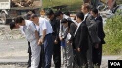 El secretario general de Naciones Unidas, Ban Ki-moon asistió a rendir homenaje a las víctimas de la planta nuclear Fukushima.