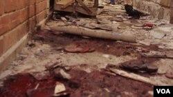 爆炸現場痕跡