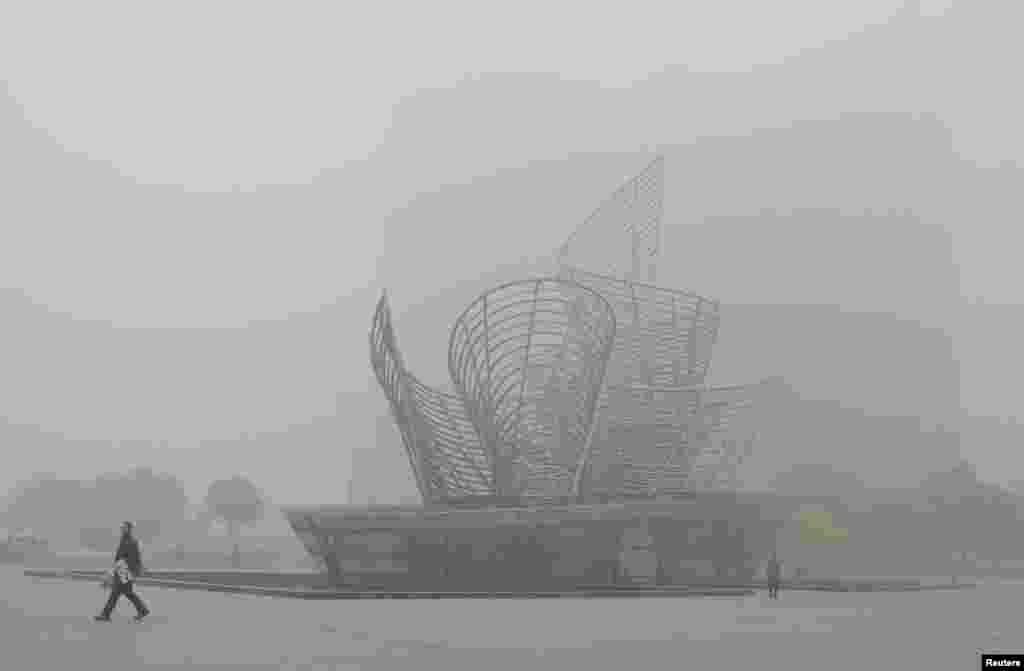 Cilin şəhəri çirkli dumana qərq olub - 21 oktyabr, 2013