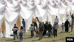 En la ciudad de Boynuyogun, en Turquía, es donde se ubica uno de los campo de refugiados de sirios que huyen de la violencia en su país.