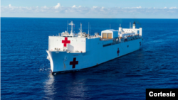 Foto referencial del buque hospital de la Armada de Estados Unidos, Comfort, publicada por el Comando Sur del Ejército de EE.UU.