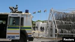 Un véhicule de la police sud-africaine, à Capte Town, le 26 octobre 2016.