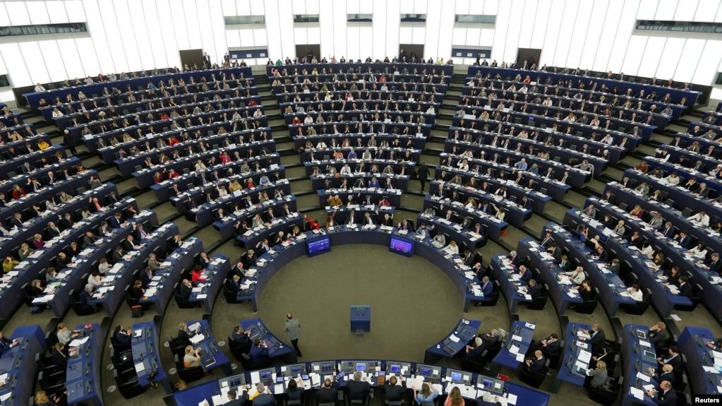 資料照歐洲議會成員投票