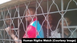 Un activiste proéminent des droits de l'homme et président de l'organisation non gouvernementale Justicia, Timothée Mbuya, a été arrêté à Lubumbashi, le 31 juillet 2017. © 2017 Privé/HRW