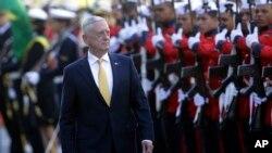 El secretario de Defensa de EE.UU., Jim Mattis, recordó en Brasil la larga tradición de colaboración con las fuerzas armadas estadounidenses.