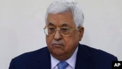 Le président palestinien Mahmoud Abbas participe au Conseil révolutionnaire du Fatah à Ramallah, le 1er mars 2018.