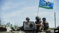 乌克兰东部的乌克兰军人