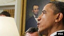 Presiden Obama menerima kunjungan Raja Yordania Abdullah di Gedung Putih (17/5).