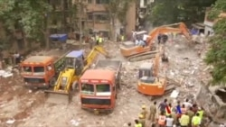 印度孟買建築物倒塌死亡人數升至17人 (粵語)