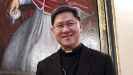 This February 9, 2012, photo shows Archbishop of Manila, Philippines, Luis Antonio Tagle, one of the six new cardinals named by Pope Benedict XVI that will be elevated at a consistory at the Vatican.